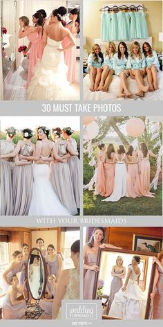 Wedding Photography Ideas ❤ Don't forget to include your bridesmaids in your wedding album. See more: http://www.weddingforward.com/must-take-wedding-photos-with-bridesmaids/ #weddingphotography