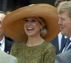 Queen Maxima....this gorgeous hat is so flattering...