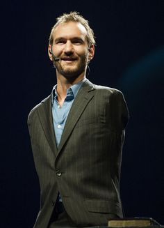 Nick Vujicic was born with tetra-amelia syndrome, a rare disorder characterized by the absence of all four limbs. Although he has no arms or legs, he doesn't let this stop him. Nick swims, gulfs, and surfs. A few years ago, he got married and now has a beautiful baby boy. Nick travels the world every year giving motivational speeches about living with a disability and finding the meaning of life.