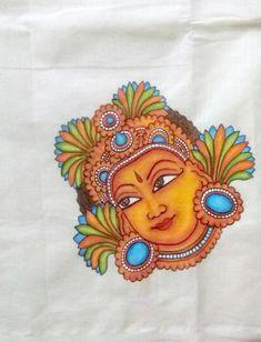 Design your dreams. Kalamkari Painting, Tanjore Painting, Kerala Mural Painting, Indian Art Paintings, Saree Painting Designs, Folk Art Flowers, Madhubani Art, Indian Folk Art, Africa Art