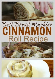 The Unlikely Homeschool: Best Bread Machine Cinnamon Roll Recipe These cinnamon rolls are the perfect addition to any holiday brunch and can be whipped up the night before in a bread machine. Serve them in the morning or freeze them for months. Bread Machine Rolls, Easy Bread Machine Recipes, Best Bread Machine, Bread Maker Recipes, Bread Maker Machine, Bread Rolls, Cinnamon Bun Recipe, Cinnamon Roll Bread, Cinnamon Roll Recipe For Bread Machine