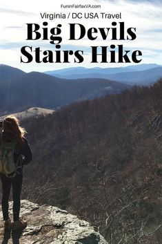 Virginia US travel / hiking in Shenandoah National Park. The Big Devils Stairs hike is a moderate out and back trip to a beautiful viewpoint in the North District of Shenandoah National Park in Virginia. The Big Devils Stairs hike is a moderate 5 Canada Travel, Travel Usa, Travel Couple, Family Travel, Best Places To Camp, Shenandoah National Park, France, Travel Guides, Travel Tips