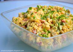 Sałatka curry Chicken Egg Salad, Kitchen Cheat Sheets, Polish Recipes, Fried Rice, Bon Appetit, Salad Recipes, Potato Salad, Food To Make, Curry