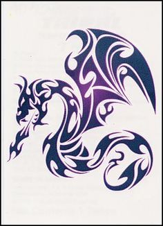 "Tribal Dragon Temporaray Tattoo by Tattoo Fun. $4.95. This 3"" X 3"" tribal inspired dragon is a great temporary tattoo. The artwork is amazing. The size makes it perfect for placing on the shoulder or on the shoulder blade."