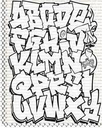Bildergebnis für easy graffiti letters alphabet