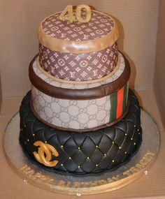 Chanel, gucci and LV cake
