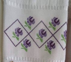 This Pin was discovered by Gül Cross Stitch Borders, Cross Stitch Alphabet, Cross Stitch Flowers, Cross Stitch Designs, Cross Stitching, Cross Stitch Embroidery, Crochet Flower Patterns, Bead Loom Patterns, Stitch Patterns