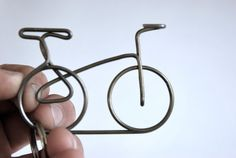 Bicycle Accessory Keychain - Hand Sculpted Bike Keychain - Cruiser Style. $15.00, via Etsy.