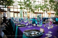 Turquoise and Purple Wedding Receptions | More than Words: Brian & Amanda - Bride Blog - September 2010