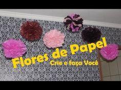 Flores/Pompons de Papel de seda  #CeFV #EspecialDeAniver