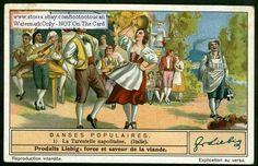 Sicily Tarantella Dance Italy Italian Music 1930s Card