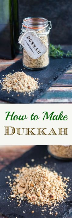 How to Make Dukkah. So simple to make at home, and makes an impressive gift. Easy Snacks, Healthy Snacks, Healthy Herbs, Mayonnaise, Dukkah Recipe, Curry, Australian Food, Homemade Spices, Spice Mixes