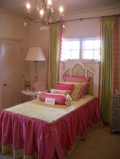 pink and green princess room