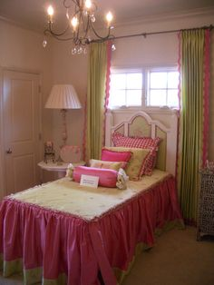pink and green princess room