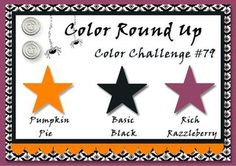 CRU#79 Pumpkin, Razzleberry, black--Halloween/fall colors