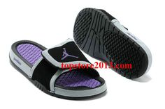 eb5fbcbb710e Girls Jordan Hydro 2 Slide Black Laser Purple Air Jordan Rétro