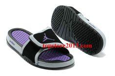 602719fdac8d Girls Jordan Hydro 2 Slide Black Laser Purple Air Jordan Rétro