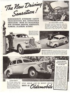 Vintage 1938 Oldsmobile Magazine Print Ad Paper Advertising Service Station Attendant