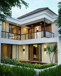 Trendy home architecture exterior indian Ideas Modern Exterior House Designs, Dream House Exterior, Modern Architecture House, Modern House Design, Bungalow House Design, House Front Design, Small House Design, Dream Home Design, Modern Tropical House