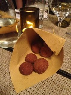 """mondeghili"" (meatballs) at Ratanà restaurant in Milan!"