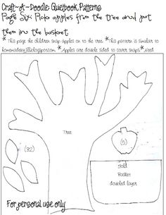 craft a doodle quiet book patterns | Craftadoodle: Quiet Book: Page 6 and Printable Patterns