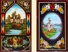 Boat Decorations, Roses and Castles, Collings, Buckby Can, water can Castle Painting, Boat Painting, Mirror Painting, Sign Painting, Canal Boat Art, Canal Barge, Art Nouveau, Truck Art, Historical Art