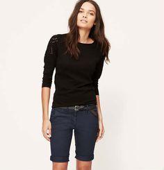 Skinny Cuffed Bermuda Shorts in Marisa Fit with 10 Inch Inseam | Loft