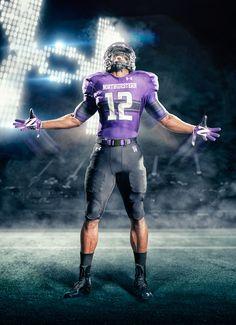 Northwestern football uniforms (purple) – Sport is lifre College Football Uniforms, Sports Uniforms, Football Jerseys, Football Helmets, Football Ads, Basketball, Northwestern University, Nfl Logo, Football Pictures