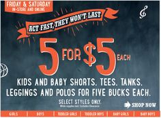 Old Navy Back to School Sale - $5 Polos, Tees, Leggings, Shorts, and More In-Store and Online