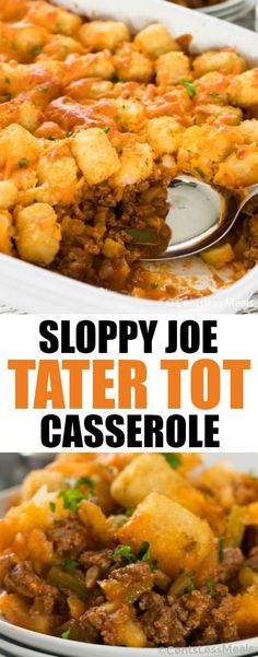 Sloppy Joe Tater Tot Casserole Recipe