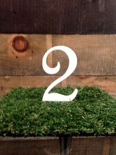 Wooden Table Numbers 1-10 by NECRCustomPrint on Etsy