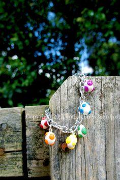 Rainbow Yoshi Egg Charm Bracelet.