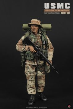 """168.00$  Buy now - http://aliq91.shopchina.info/1/go.php?t=32355950924 - """"Soldierstory 1/6 Scale doll Military figure model,12"""""""" Action figure doll USMC Desert Saber action 1991""""  #buyonline"""