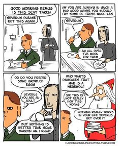 Or trying to lob puns at Lupin. | Even More Hilarious Harry Potter Comics That Prove Dumbledore Was Totally Irresponsible