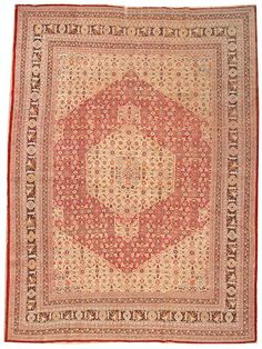 Tabriz carpet  Northwest Persia,  circa 1920  size approximately 9ft. 7in. x 12ft. 7in.