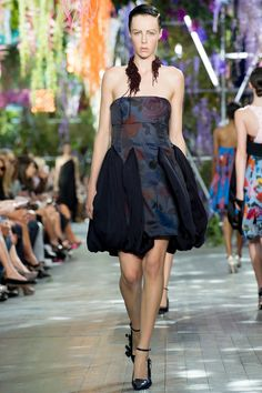 The taming of the floral with semi opaque might work. : Christian Dior | Spring 2014 Ready-to-Wear Collection | Style.com
