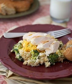 30-minute, one-pan, Chicken and Cheddar Rice with Broccoli.  Subbed Tapatio for the tabasco -- this dinner is huge flavor for so little time and effort!