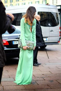 Mint Gucci Dress. Although I think the neckline is too revealing I definitely appreciate this lovely dress