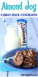 Almond Joy Cake Mix Cookies Recipe at TheFrugalGirls.com