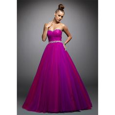 2012 Simple A-line sweetheart floor-length quinceanera dress 5375-7, Hot pink quinceanera dresses, quinceanera gowns & dresses found on Polyvore