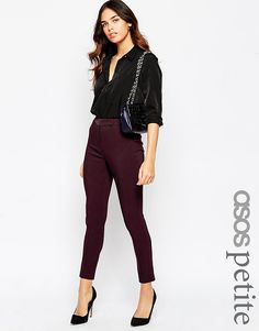 ASOS+PETITE+Trouser+with+High+Waist