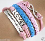 Friendship bracelet Pink and Blue