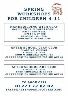 Spring Workshops for Children 4-11 at Art Shop & Pottery
