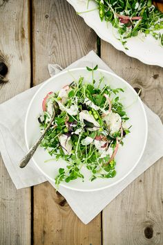 A Salad with all of the Peas, Potatoes, Acidulated Shallots + Creamy Dill Dressing | The First Mess