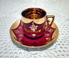 Vintage Bavarian Porcelain Demitasse Tea Cup by AnchorLineVintage