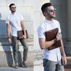 Get this look: http://lb.nu/look/7626122 More looks by Aaron Wester: http://lb.nu/themodernotter Items in this look: Topman Shirt, Club Monaco Joggers