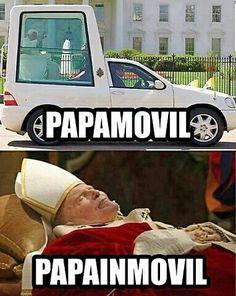 El Papa Móvil.