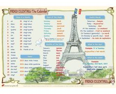 French Essentials: The Calendar – Mat 2 · Help with learning French – days in a month, days of the week, months of the year, years, and other useful words and phrases for Key Stage 2 & 3 (age 7 to · The simple rules and phrases for describin French Days, French School, Core French, French Phrases, French Words, Teaching French, How To Speak French, Learn French, French Tips