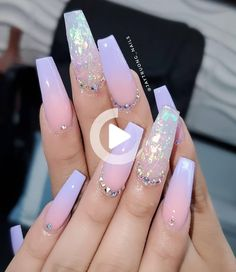 pretty nails for summer & pretty nails ; pretty nails for summer ; pretty nails for winter ; pretty nails for spring ; Aycrlic Nails, Swag Nails, Glitter Nails, Fingernails Painted, Lilac Nails With Glitter, Toenails, Cute Acrylic Nail Designs, Best Nail Designs, Ombre Nail Designs