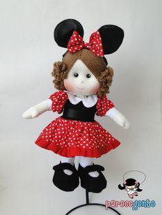 Boneca De Pano Minnie 40 Cm   Parece Gente Bonecas de Pano   Elo7